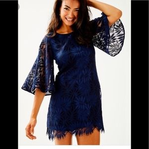 Lilly Pulitzer | Fern Gallery Lace Navy Romper